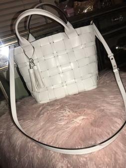 ❤️Weekend SALE❤️NWT Michael Kors Handbag Woven White