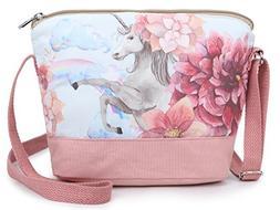 Crest Design Whimsical Canvas Cross-body Shoulder Bag for Gi