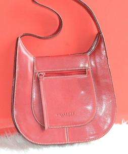 wine red women leather pocketbook handbag purses
