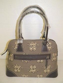 WOMAN'S DOONEY & BOURKE BROWN CANVAS & LEATHERLARGE DOMED SA