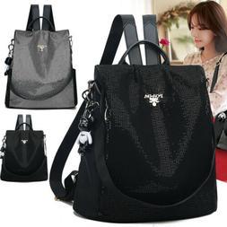 Women Anti-theft Waterproof Nylon Backpack Travel Rucksack S