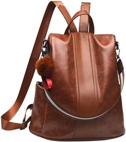 Women Backpack Purse Leather Anti-theft Backpack Casual Satc
