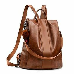 Women Backpack Purse PU Leather Anti-theft Backpack Casual S