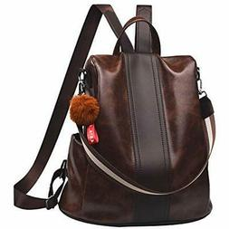 Women Backpack Purse Synthetic Leather Casual Satchel Should