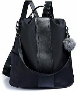 Women Backpack Purse Waterproof Nylon Anti-theft Rucksack Li