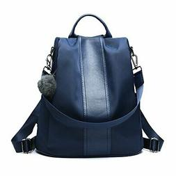Women Backpack Purse Waterproof Nylon Antitheft Rucksack Lig