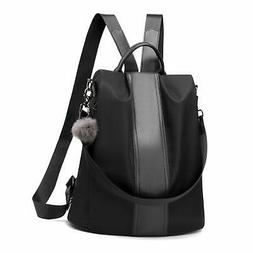 Women Backpack Purse Waterproof Nylon Anti-theft Rucksack Li