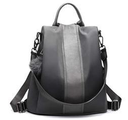 Women Backpack Purse Waterproof Nylon Anti-theft Rucksack Sh