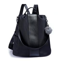 Women Backpack Purse Waterproof Nylon Anti Theft Rucksack Li