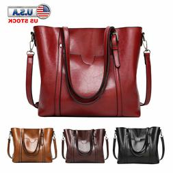 Women Bag Satchel Hobo Top Handle Tote Shoulder Purse Leathe