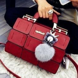 Women Boston Bag PU leather Small Satchel Purses Handbags