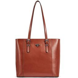 BOSTANTEN Women Briefcase Leather Laptop Tote Handbags 15.6""