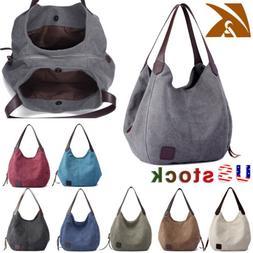 Women Canvas Handbag Shoulder Bags Large Travel Messenger To