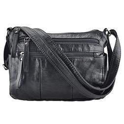 Women Crossbody Bag Pocketbooks Soft Leather Purses and Hand