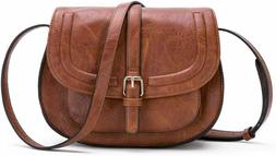 Women Crossbody Satchel Bag Small Saddle Purse and Tote Shou