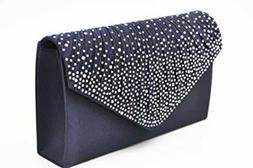 Nodykka Women Evening Envelope Rhinestone Frosted Handbag Pa