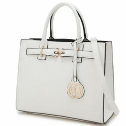 Women Faux Leather Handbags Medium Satchel Shoulder Bags Pur