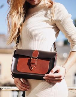 Women Genuine Leather Crossbody Purse Shoulder Bag Tote Hand
