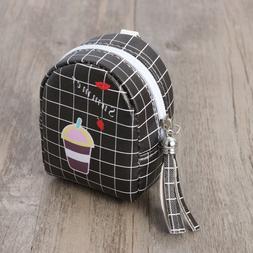 Women Girls Coin Bags Zipper Tassel Cute Mini Money Change C