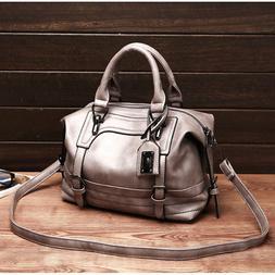 Women Handbag Leather Briefcase Shoulder Bag Tote Purse Woma