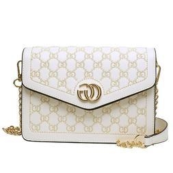 Women Handbag PU Leather Chain Shoulder Bag Hobo Tote Messen