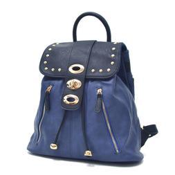Dasein Women Handbag Studded Faux Leather Backpack School Ba