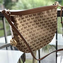 Michael Kors Women Jacquard Leather Crossbody  Shoulder Bag