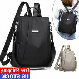 Women Lady Backpack Purse Anti-Theft Rucksack Waterproof Oxf