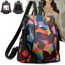 Women Lady Backpack Purse Anti-Theft Rucksack Waterproof Oxf