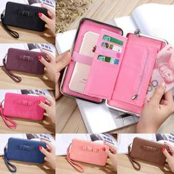 Women Lady Leather Clutch Handbag Wallet Long Card Holder Ph