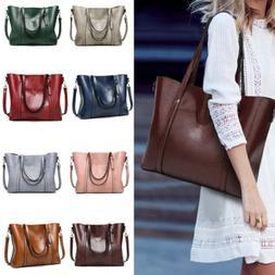 Women Lady Leather Handbag Shoulder Bag Messenger Satchel Sh