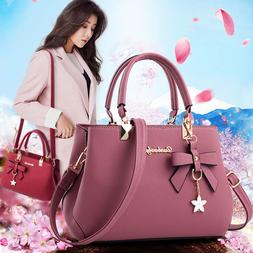 women lady leather handbag shoulder messenger satchel