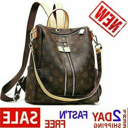 Women Leather Backpack Fashion Casual Purse Crossbady Should