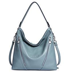 BOSTANTEN Women Leather Handbag Designer Large Hobo Purses S