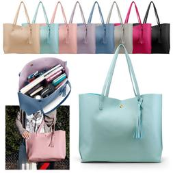 women leather handbag shoulder ladies purse messenger
