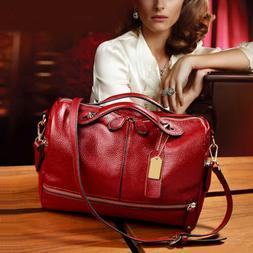 Women Leather Handbag Shoulder Purse Pilliow Shape Satchel C