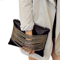 women leather handbags and purses party black evening clutch