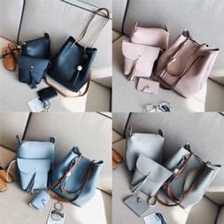 Women Leather Satchel Handbag Shoulder Messenger Crossbody B