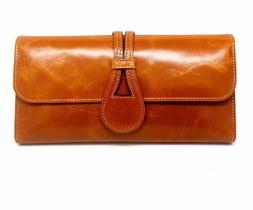 Women Long Large Capacity Solid Retro Coin Purses Ladies Bag