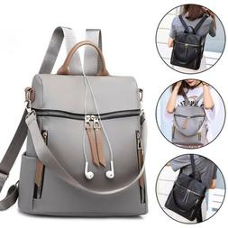 Women Nylon Backpack Purse Waterproof Anti-Theft Rucksack Sc