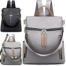 Women Nylon Backpack Waterproof Anti-Theft Rucksack Travel S