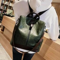 Women PU Leather Backpack Bag Cute Fashion Purse Cross Shoul