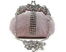 Women's Evening clutch Metal Beaded Mesh Purse for Party Pro