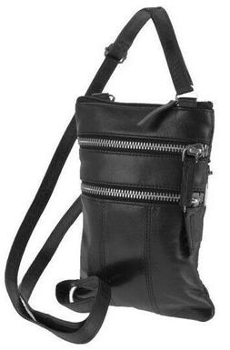Women's Genuine Leather Black Purse Handbag Shoulder Cross B