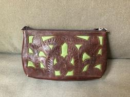 Leaders In Leather Women's Handbag Purse Brown Leather Toole