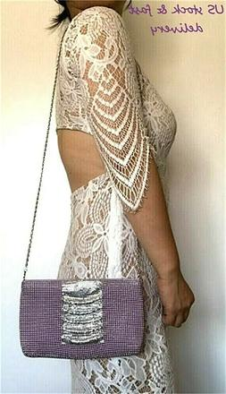 Women's Metal Mesh Evening purse for Party Prom Wedding Banq