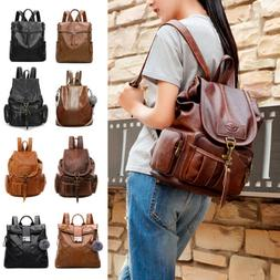 Women's PU Leather Backpack Purse Ladies Casual Shoulder Bag