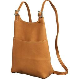 Le Donne Leather Women's Sling BackPack Purse 5 Colors Backp