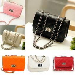 Women's Small Crossbody Quilted Purse Bag Handbag with Chain