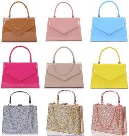 Women's Small Cute Little Clutch Evening Top Handle Handbags